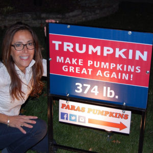 Trumpkin Pumpkin Sign