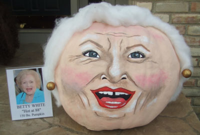 2010 - Betty White Pumpkin - 150 lbs.