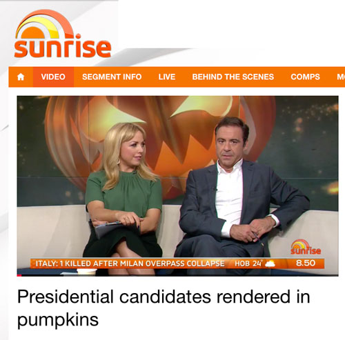 Sunrise Australia Celebrity Pumpkins